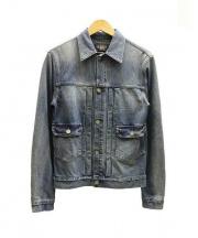 RRL(ダブルアールエル)の古着「インディゴ染めストレッチデニムジャケット」|インディゴ