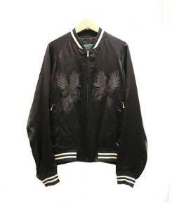 DRAWER(ドゥロワー)の古着「シルク混スカジャン」|ブラック