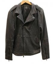 BEAUTY&YOUTH(ビューティ&ユース)の古着「ラムレザージャケット」|ブラック