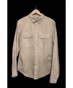 save khaki united(セーブカーキユナイテッド)の古着「TWILL CAMP SHIRTS」|ベージュ