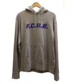 F.C.R.B.(エフシーレアルブリストル)の古着「STAR HOOD PULLOVER HOODY」|グレー