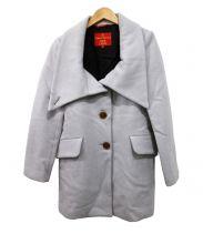 V.W. RED LABEL(ヴィヴィアン ウエストウッド レッドレーベル)の古着「ビッグカラーウールコート」|グレー