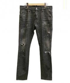 DSQUARED2(ディースクエアード)の古着「スタッズデニムパンツ」|ブラック