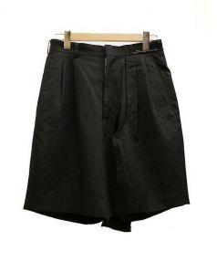 COMME des GARCONS(コムデギャルソン)の古着「クラッシュ加工タックショーツ」|ブラック
