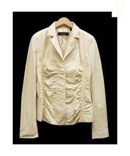 DONNA KARAN NEW YORK(ダナ・キャラン)の古着「レザージャケット」 ベージュ
