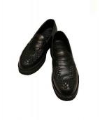 foot the coacher(フットザコーチャー)の古着「G.B. LOAFER ローファーシューズ」|ブラック