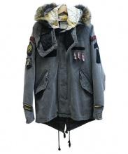 TMT(ティーエムティー)の古着「ウォッシュド加工モッズコート」|グレー