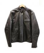 FREEDOM(フリーダム)の古着「シングルレザージャケット」|ブラック