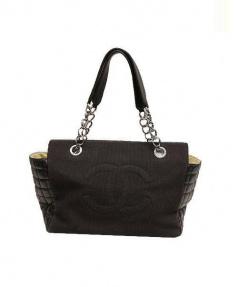CHANEL(シャネル)の古着「メッシュポケットココマークハンドバッグ」|ブラック