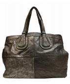 GIVENCHY(ジバンシィ)の古着「コーティングショルダートートバッグ」|メタリックシルバー