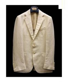 De Petrillo(デ・ペトリロ)の古着「リネンコットン3Bジャケット」|ホワイト
