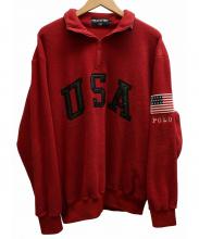 POLO SPORT(ポロスポーツ)の古着「ハーフジップフリースジャケット」|レッド
