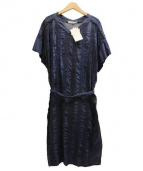 OLIKA(オリカ)の古着「刺繍ワンピース」|ネイビー