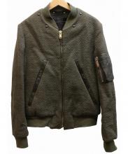 Paul Smith(ポールスミス)の古着「WOOLキルティングMA-1ジャケット」|オリーブ