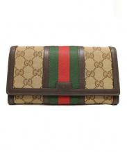 GUCCI(グッチ)の古着「ヴェンテージウェブ長財布」|ベージュ