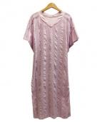 OLIKA(オリカ)の古着「刺繍ワンピ」|パープル