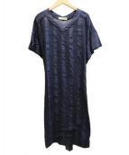 OLIKA(オリカ)の古着「刺繍ワンピ」|ネイビー