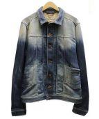 DIESEL(ディーゼル)の古着「JUZICON JACKETスウェットデニムジャケット」|インディゴ