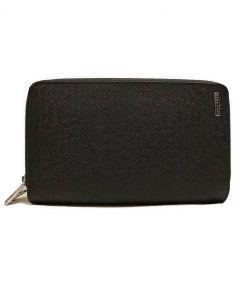 HUGO BOSS(ヒューゴボス)の古着「Wファスナーオーガナイザー財布」|ブラック