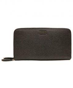 Salvatore Ferragamo(サルヴァトーレ フェラガモ)の古着「Wファスナーオーガナイザー財布」|ブラック
