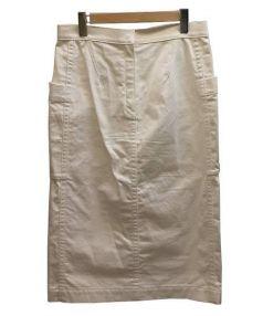 Drawer(ドゥロワー)の古着「ホワイトカーゴスカート」|ホワイト