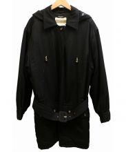 CHANEL(シャネル)の古着「フーデッド金牡丹コート」|ブラック