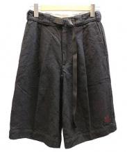 Gramicci×Chanv(グラミチ×シャンヴ)の古着「クライミングパンツ/リネンショーツ」|ブラック