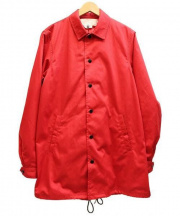GANRYU(ガンリュウ)の古着「ロングコーチジャケット」 レッド