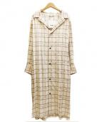 so1:1(ソウワンバイワン)の古着「ベルテッドロングワンピ」|ベージュ