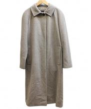 BURBERRY LONDON(バーバリーロンドン)の古着「アンゴラベルテッドロングコート」 グレー