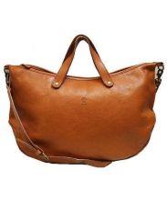 CI-VA(チーバ)の古着「2WAYレザートートバッグ」|ブラウン