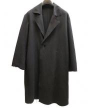 BLANC Y.M(ブランワイエム)の古着「カットオフロングコート」|ブラック