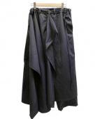 GROUND Y(グランド ワイ)の古着「ウールベネシャンラップパンツ」|ネイビー