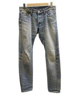 TMT(ティーエムティー)の古着「テーパード5ポケットデニム」|スカイブルー