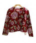 bulle de savon(ビュル デ サボン)の古着「ベロアジャケット」|レッド