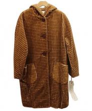 atelier du savon(アトリエドゥサボン)の古着「フーディーコート」|ブラウン