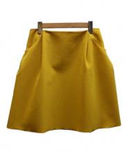 FOXEY NEWYORK(フォクシーニューヨーク)の古着「イリプスフレアースカート」|イエロー