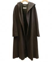 MaxMara(マックスマーラ)の古着「フーディーロングコート」|オリーブ