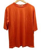 AURALEE(オーラリー)の古着「CASHMERE SILK HIGH GAUGEニット」|オレンジ
