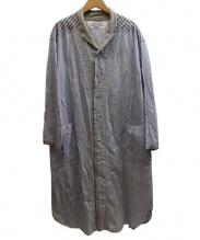 CABANE de ZUCCa(カバンドズッカ)の古着「パジャマストライプワンピ−ス」|ブルー×グレー