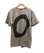 COMME des GARCONS HOMME PLUS(コム デ ギャルソン オム プリュス)の古着「プリントTシャツ」|グレー×ブラック