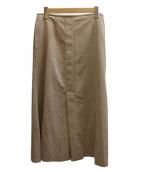beautiful people(ビューティフルピープル)の古着「 ウルトラスウェードスカート」|ベージュ