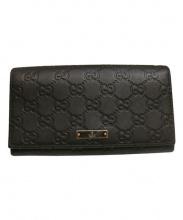 GUCCI(グッチ)の古着「シマ/長財布」|ブラック