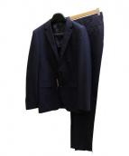 COMME CA MEN(コムサメン)の古着「2Bストライプスーツ」|ネイビー