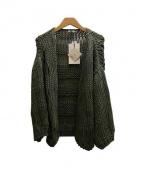 Maiami(マイアミ)の古着「BIGカーディガン」|オリーブ