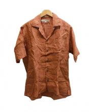 INDIVIDUALIZED SHIRTS(インディビジュアライズド)の古着「オープンカラーリネンシャツ」|ブラウン