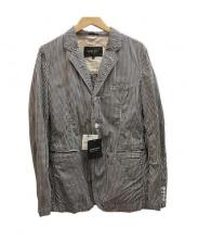 COMME des GARCONS HOMME DEUX(コムデギャルソン オム ドゥ)の古着「テーラードジャケット」|ホワイト×ブラック