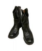 foot the coacher(フットザコーチャー)の古着「F-HOLE ROUND BOOT ブーツ」|ブラック