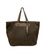 FALORNI(ファロルニ)の古着「イントレチャートトートバッグ」|ブラウン