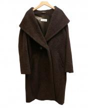 MaxMara(マックスマーラ)の古着「アルパカウールロングコート」 ブラウン